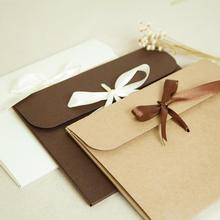 Vintage DIY Multifunction Kraft paper envelope Gift card envelopes for wedding birthday party Invitation Envelope Case A4