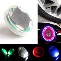 2 Adet Flaş Renk Değişikliği LED Güneş Enerjisi Su Geçirmez Oto Araba Dekorasyon Jant Lastik Hub Yüksek Kalite Oto Styling Işık Lambası