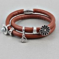 ZMZY Endless Story 2016 Newest DIY Jewelry Endless Charms Pendant Fits Women Leather Endless Bracelet With Magnetic Clasp
