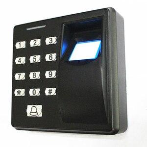 125 khz/13.56 mhz impressão digital/senha/cartão de identificação porta sistema de controle acesso
