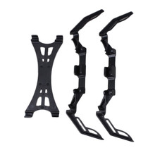 Heightened Landing Gear Landing Skid Protector Stabilizer + Camera Gimbal Protective Guard Kit For DJI Phantom 4 Pro-Black