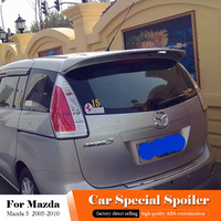 For Mazda 5 Spoiler 2005 2010 High Quality ABS Material Rear Spoiler Car Rear Wing Primer Color Tail Trunk Boot Wing Car Styling
