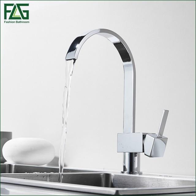 FLG Splitter Küchenarmatur Chrom 360 Wasserfall Küchenspüle ...