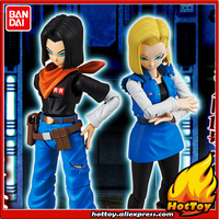 Original BANDAI Tamashii Nations Figure rise Standard Action Figure Android No.17 & No.18 Plastic Model from Dragon Ball Z