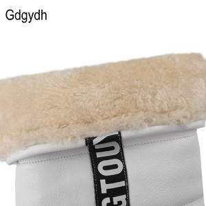 Image 5 - Gdgydh Winter Women Shoes Knee high Boots Female Elevator Flat Thermal Velvet Snow Boots Platform Cotton padded Shoes Size 34 43