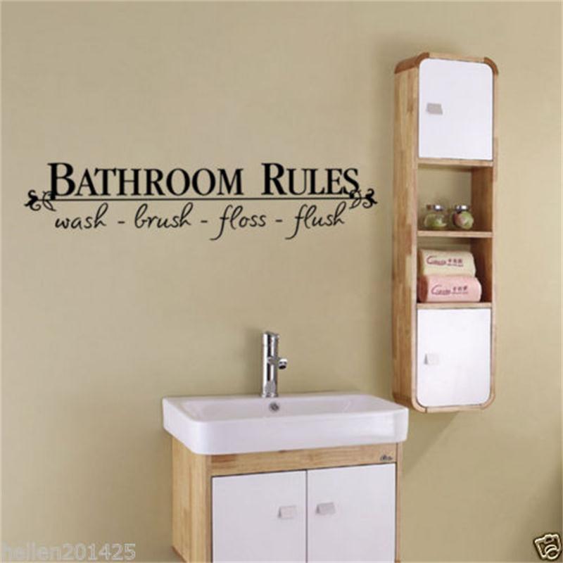 HTB1bSybQXXXXXaBaXXXq6xXFXXXS - bathroom rules door sign vinyl quotes lettering words wall sticker For bathroom-Free Shipping