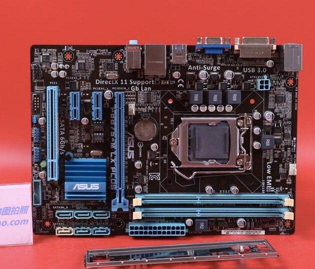 Livraison gratuite origine carte mère pour ASUS P8B75-M LX PLUS DDR3 LGA 1155 USB3.0 SATA3 B75 Bureau motherborad
