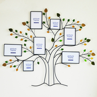 Village tree photo wall European modern living room wall mural creative combination photo frame