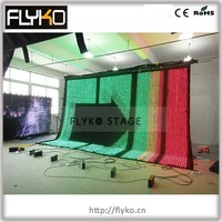 media equipment led cloth P50mm 14ft x 20ft live show vision curtain led video display screen church decoration