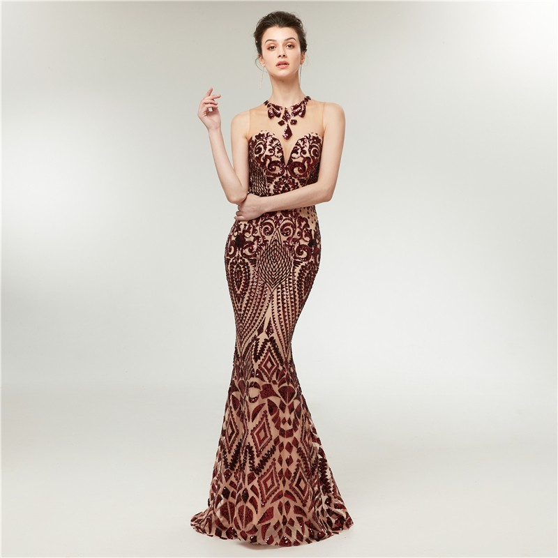 2018 Trumpet Evening Dress Prom Party Gowns Long Formal Women ...