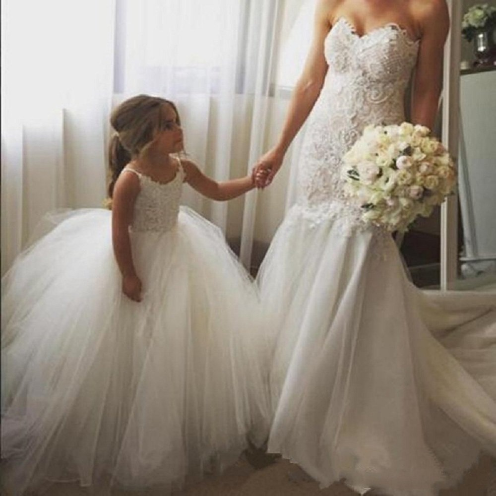 New First Communion   Dresses   for   Girls   Champagne O-neck Sleeveless A Line Lace Appliques   Flower     Girl     Dresses   for Weddings