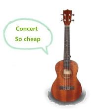 Concert Ukulele 23 Inch Hawaiian Guitar 4 Strings Ukelele Guitarra Handcraft Mahogany Wood Uke Musical Instruments