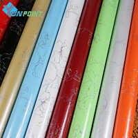 Pintura brillante adhesivo impermeable para pared muebles antiguos armario decorativo película PVC Papel De pared autoadhesivo