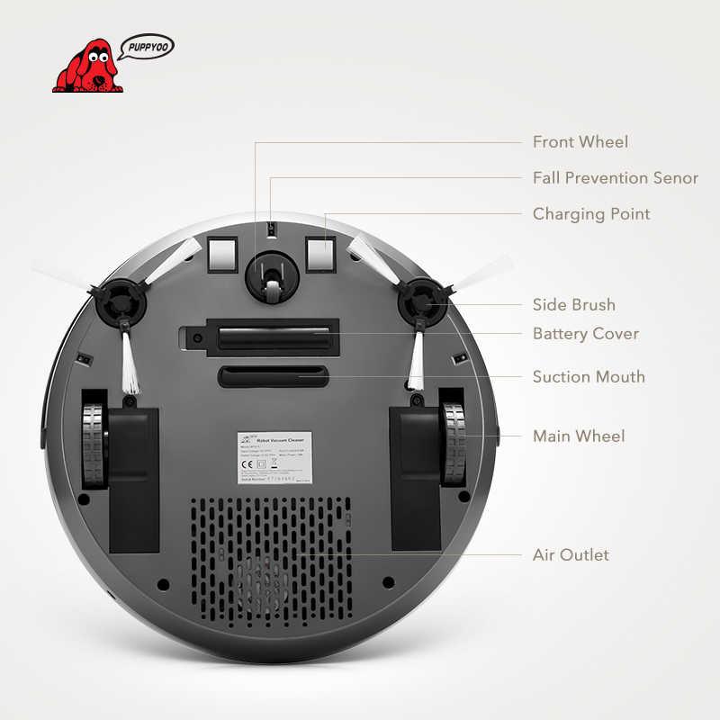 PUPPYOO Роботизированный пылесос интеллектуальный многофункциональный коллектор самозарядки и высокой мощности всасывания боковые щетки WP615