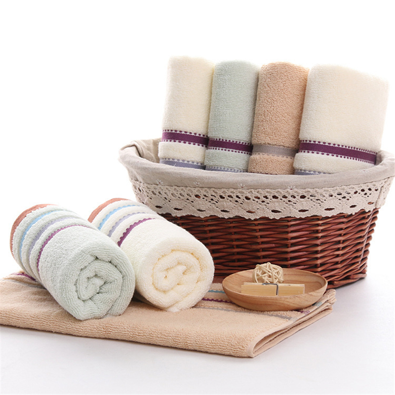 2018 Luxury pure cotton striated striped towel for adult male and female children's beauty club towels