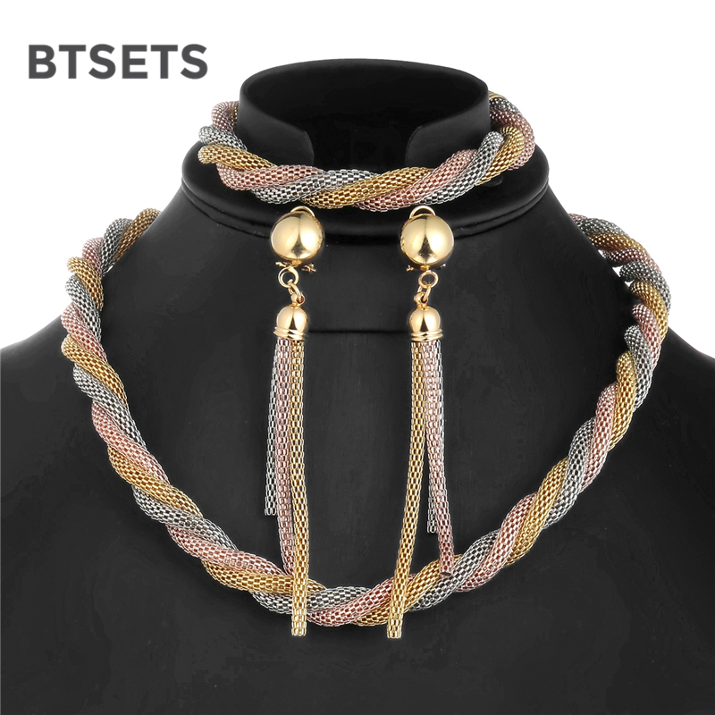 BTSETS Jewelry-Set African Beads Wedding-Dubai Nigerian Bridal Bohemian Antique Women