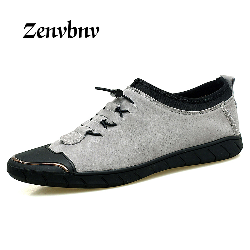 ZENVBNV Comfort casual shoes Men flats quality Pig Suede men Summer loafers shoes Genuine leather shoes sapato masculino shoes zenvbnv high quality summer cow genuine leather men shoes soft loafers fashion brand men moccasins flats comfy driving shoes