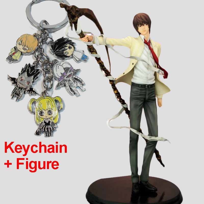 26cm Japanese Anime Figures Death Note Yagami Light Action Figure Collectible Model Toys Brinquedos in Boxed sosw fashion anime theme death note cosplay notebook new school large writing journal 20 5cm 14 5cm