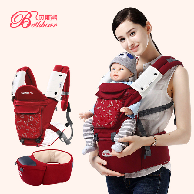a261e2472ce Beth Bear Ergonomic Baby Carrier 360 Cotton Baby Hipseat Infant Kangaroo  Baby Bag Hip Seat Baby Backpack Carriers with Organizer