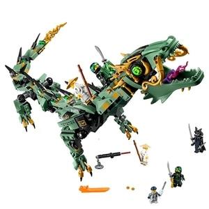 Image 5 - 2019 חדש creative ninjaly מקדש הדרקון פעולה תואם עם Legoings בניין צעצוע ninja עירוני בריק צעצוע לילדים מתנה