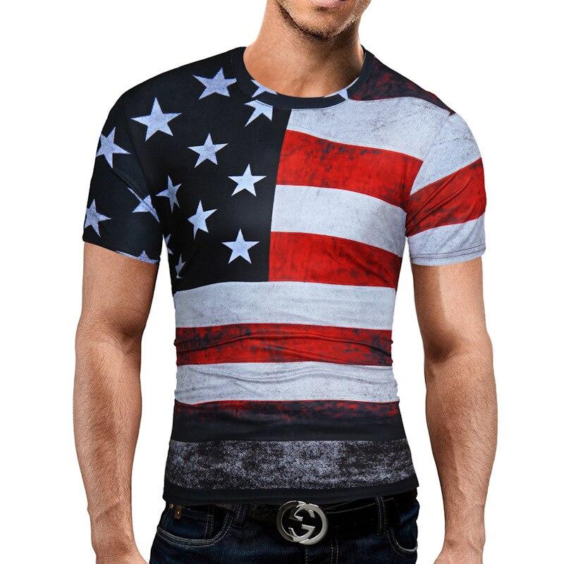 QINGYU Male 3D T-Shirt Tops Mens Tee Shirt T Shirts