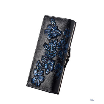 Floral Embossed Long Wallet Bags and Wallets Best Seller Hot Promotions Women's Wallets Color: 752b