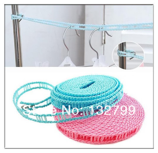 Travel Outdoor Portable 5M Windproof Clothesline Rope Clothes Laundry  Retractable Line String()
