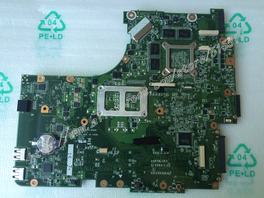 Genuine New N53SV Rev 2.2 With GT540 2GB Graphic card For Asus N53SM Laptop Motherboard two Ram Slot