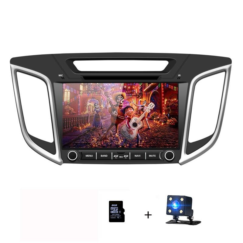 2Din Auto Radio DVD Player GPS Per Hyundai Creta IX25 2014 2015 2016 2017 2018 di tocco dello schermo di Auto Multimediale di Navigazione unità di testa