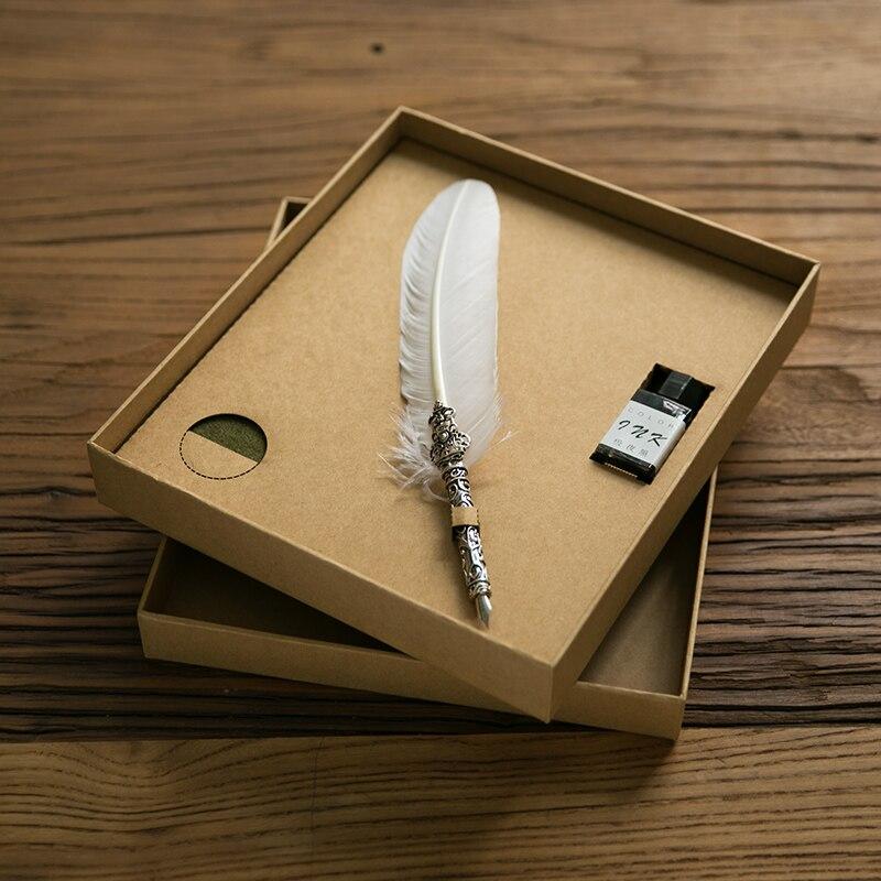 Feutre rétro carnet de croquis Graffiti peint à la main cahier nostalgique style album présent stylo plume brun joli paquet cadeau