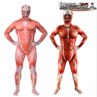 Anime Attack on Titan Cosplay Costume Adult Armored Colossal Titan Cos Halloween Party Onesie Tights High Quality