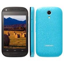 Оригинал Logicom L-EMENT 350 Волна 3.5 Смартфон Android 4.4 MTK6571 Двухъядерный Мобильный Телефон 512 М 4 ГБ Dual SIM разблокирована Сотовый Телефон