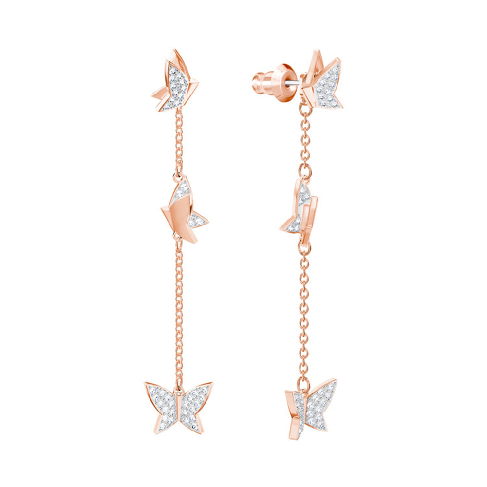 2018 New Charming Butterfly Earrings,Rose Gold Plated And Clear Crystal Jewelry for Women Daughter Birthday Gift 53823642018 New Charming Butterfly Earrings,Rose Gold Plated And Clear Crystal Jewelry for Women Daughter Birthday Gift 5382364