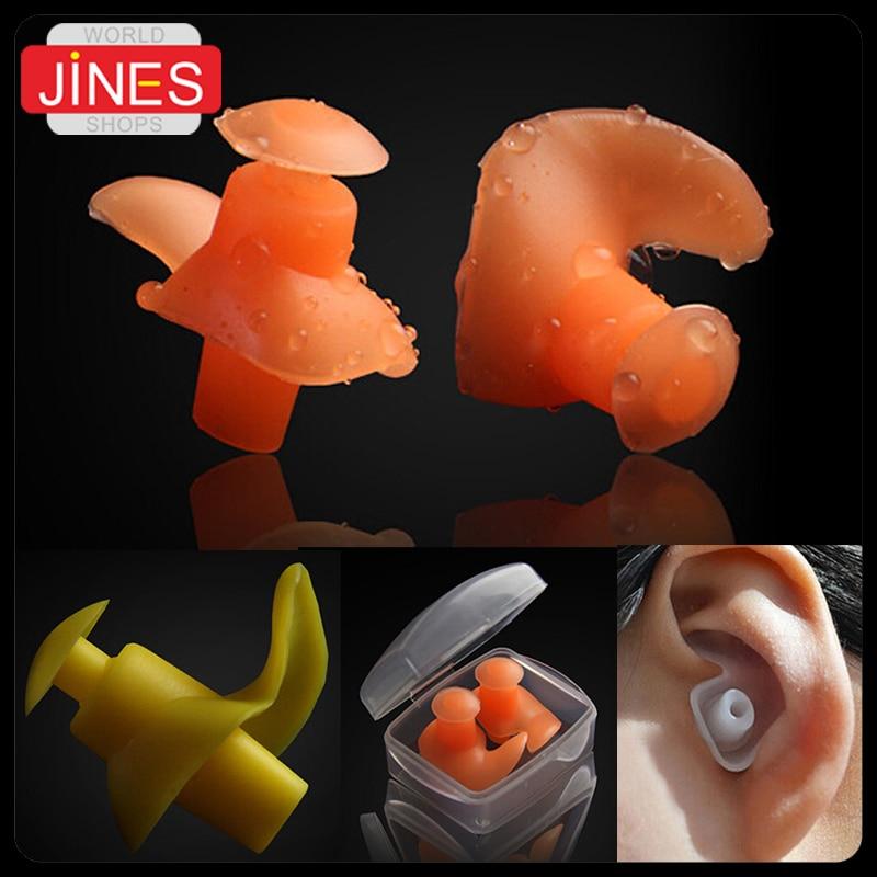 Waterproof swimming Earplugs professional silicone swim earplugs adult swimmers children ...