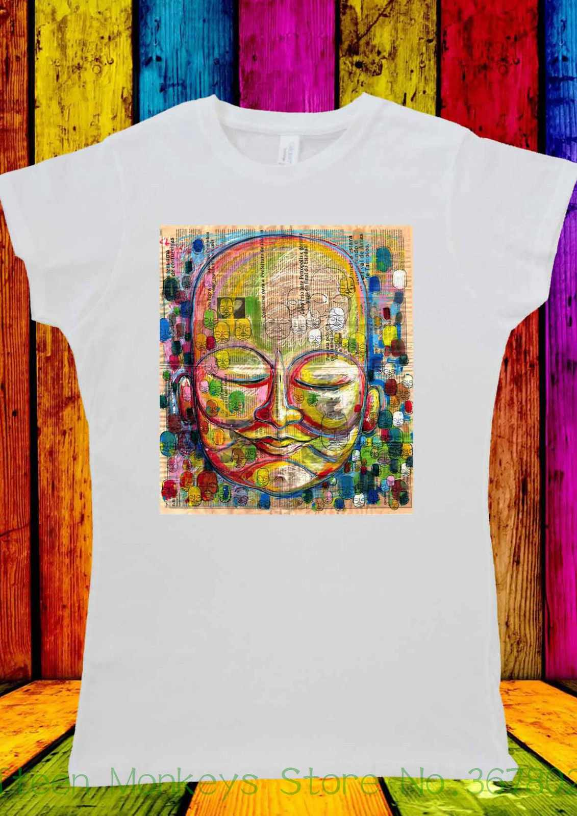 Women's Tee Gautama Buddha Budda Design Tumblr T-shirt Men Women Unisex 1506 Short Sleeve Cool Casual