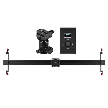 Andoer Electric DSLR Camera Slider Motorized Stabilizer With Ball Head  for Canon DSLR Camera Time Lapse Video Shooting