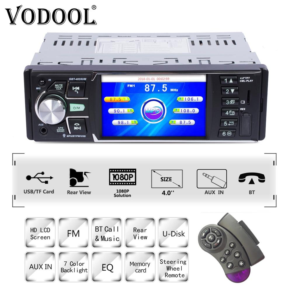 2 Din Player Multimídia rádio do carro um DIN com câmera traseira MP5 Novo  7018B 7 ''Autoradio