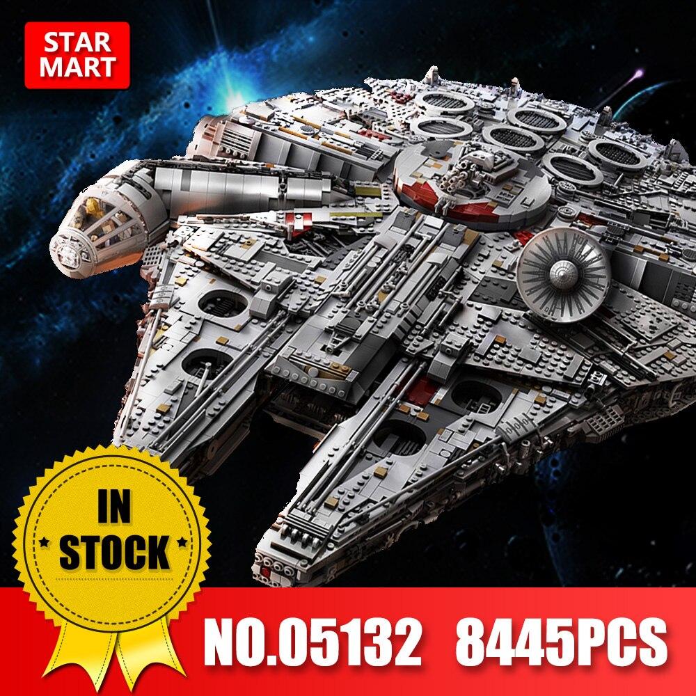 Лепин 05132 05142 Сокол Тысячелетия звезда серии войны конечной Коллекционная модель 8445 шт. прослужит строительные блоки кирпичи 75192