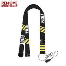 New Mobile Phone Straps PILOT Lanyard For Pass Gym Mobile USB Badge Holder ID Badge Holders Co-Pilot Lanyards Phone Neck Strap(China)