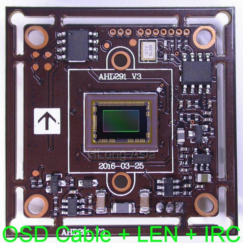 """imágenes para AHD-H (1080 P) 1/2. 8 """"Sony Exmor CMOS IMX291 + NVP2441 junta módulo de cámara CCTV OSD con cable + 3.0MP CS LEN + IRC"""