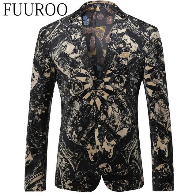 Hombres Blazer 2016 Nueva Vintage Hombres Blazers Moda Casual Diseñador de la Marca Blazers Florales Ternos CBJ-T0107