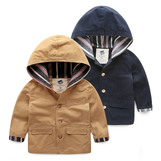 2016 new Boys hooded coat baby jacket