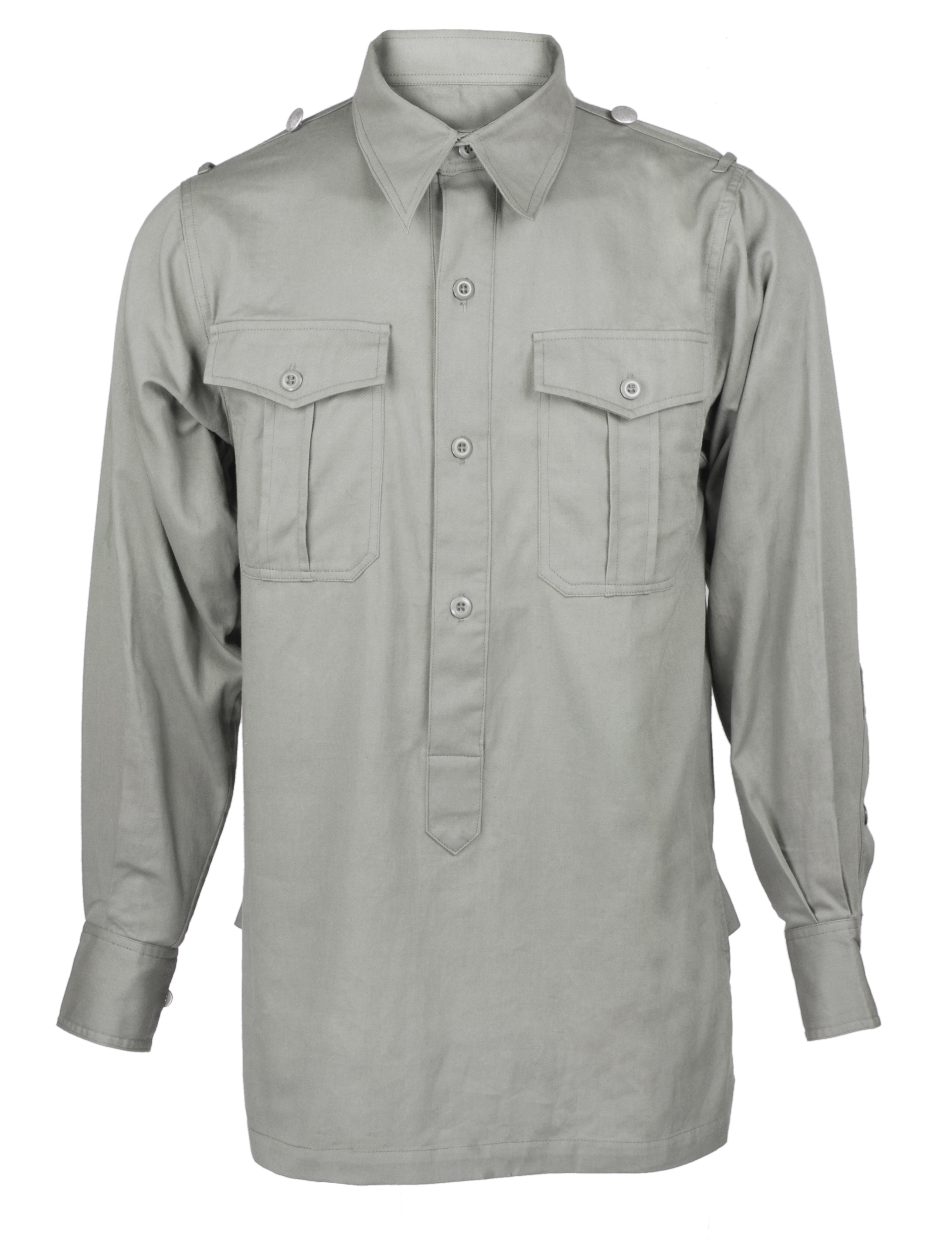 WW2 GERMAN WH WEHRMACHT HEER GREY COTTON SHIRT-32553