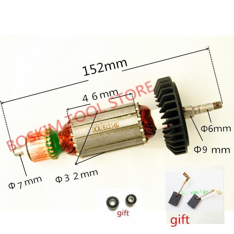 AC220-240V Armature Rotor Anchor For MAKITA 9553HB 9553HN 9554NB 9553HN 9555HN 9553NB 9555NB 9554HN 515619-7 515616-3 5101053-3