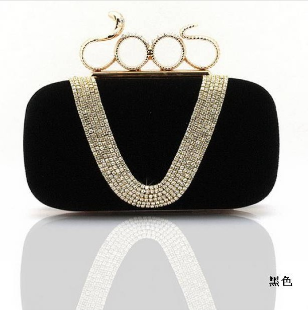 206 Noble Luxury Crystal Clutch Evening Purse Single Diamond Bling Clutches Party Handbags Rhinestone Bridal Bags SMYCYX-E0065 bling koi fish purse luxury rhinestone