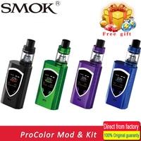 100% original smok Alien Procolor kit vape vaporizador e cigarrillo caja mod 225 W mod Mech TFV8 tanque grande del bebé VS Alien kit en stock