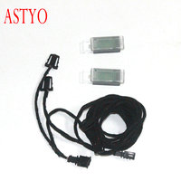 ASTYO Car LED Foot well Light Footsteps Space Lamp & Cable For Golf 7 MK7 Passat B8 5GG947409