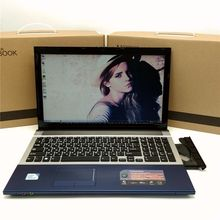 15.6inch 4G RAM 750G HDD Gaming Laptop In-tel I7 Dual Core Fast CPU Windows 7/8.1 Notebook PC Computer with DVD ROM