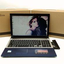15.6 дюйма 8 г Оперативная память 1 ТБ HDD игровой ноутбук в тел I7 Dual Core быстрая Процессор Окна 7/8. 1 Записные книжки компьютер с DVD Встроенная память