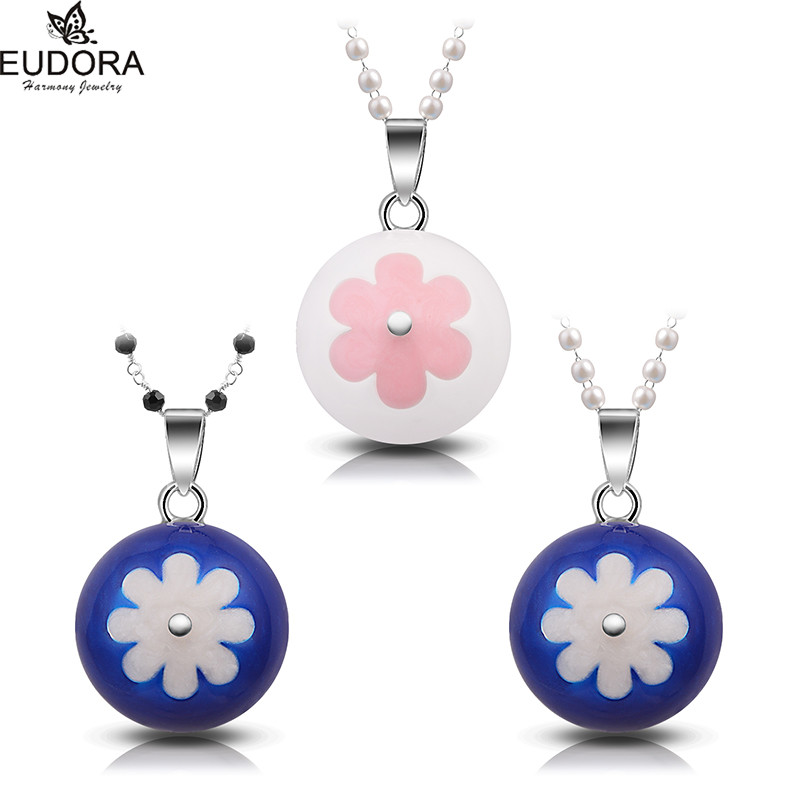 Colorful Sunflower Eudora Harmony Ball Jewelry Mexican Bola Pendant Angel Caller Chime Ball Pendant for Pregnant Women Gift